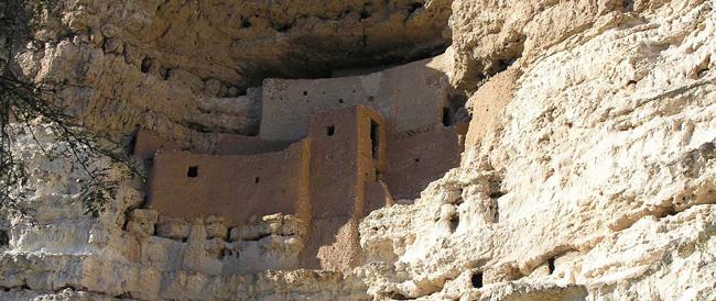 Map Of Arizona Indian Ruins.Montezuma Castle